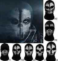 Full Face Skeleton Ghost Skull Face Mask Hood Biker Halloween Props Balaclava