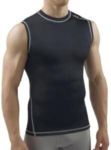 Sub Sports Dual All Season Mens Sleeveless Compression Top - Black