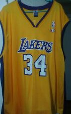 Vintage 90s Champion NBA Los Angeles Lakers #34 Shaquille O'Neal Jersey Shirt 52