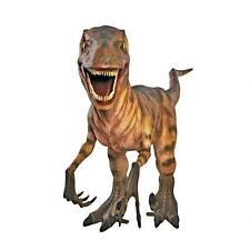 Ne120002 - Jurassic-Sized Deinonychus Dinosaur Statue - New!