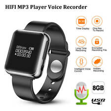 Bracelet 8GB HD Watch Voice Recorder Hidden Sound HIFI MP3 Player Smart