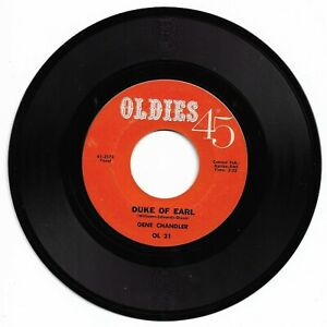 GENE CHANDLER - DUKE OF EARL - OLDIES 45 - EXCELLENT CONDITION.