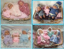 "*4* BABYDOLL HANDKNIT DESIGNS KNITTING PATTERNS CBC1 FOR 5 & 8"" BERENGUER DOLLS"