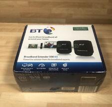 BT Broadband Extender 500 Kit Powerline Adapter 500mbps - Black