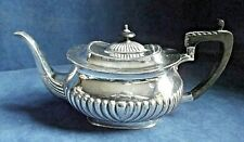SUPERB ~ SILVER Plated ~ BULBOUS Fluted TEAPOT ~ c1900 by Richard Richardson