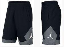 Mens Nike Air Jordan Varsity Fleece Black Gray Basketball Shorts Large NWT $60 .