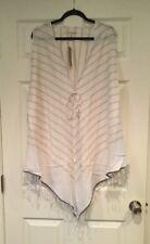 "Michael Stars ""Cascade Serenade"" Cream Striped Vest, Size OS NWT! $64"