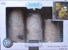 3 Piece LOFT LED Flameless Candle Set w /TIMER -BRAND NEW IN THE BOX