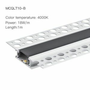 2m 18W SMD Linear LED Bar Lights Recessed Aluminum Profile Line Lamps Silicone