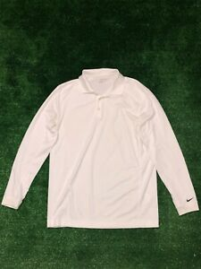 Men's Nike Golf Performance Polo Shirt Size Medium - Long Sleeves