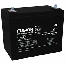 12v 80ah Fusion Lithium Deep Cycle Solar Caravan Marine UPS Lifepo4 Battery
