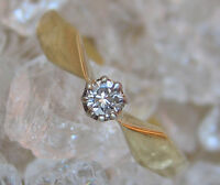 ✨0,09 ct✨ Brillant Ring aus 14kt 585 Gold mit Diamant Ring Antik Solitär Diamond
