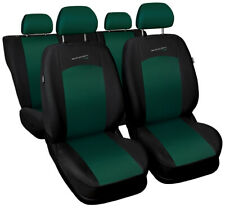 Seat covers fit PEUGEOT 405 406 407 FULL SET black-green sport line