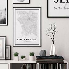 Los Angeles City MAP Digital Print