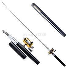 New Telescopic Mini Portable Fish Pen Aluminum Alloy Fishing Rod Pole + Reel UK