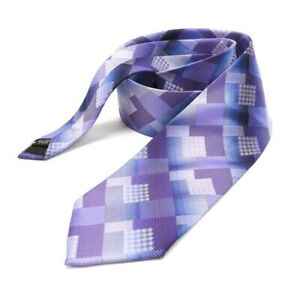 Men's Tie Necktie Purple Lavender Geo 3.5 x 59 STACY ADAMS