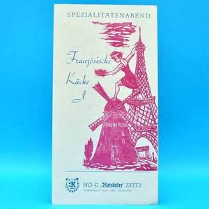 HO-G Ratskeller Zeitz 1989 | Speisenkarte DDR Getränkekarte Spezialitätenabend C