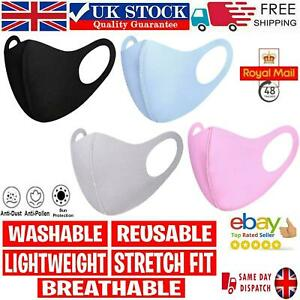 Face Mask Reusable Masks UK Washable Breathable  Mouth Nose Protection Cover UK