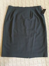 Bill Burns for Nordstrom Gray Worsted Wool Career Pencil Skirt Size 16 NWT