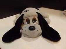 "Vintage 1997 Galoob Pound Puppies Plush/Stuffed Dog Brown w/Red Collar 14.5"""