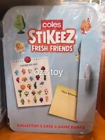 New Coles little shop Stikeez 2020 Fresh Friends Collectors Case Game Rare