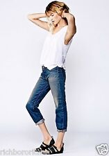 NEW Free People NSF ramona wash Easy Straight Boyfriend Jeans button fly 27