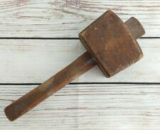 More details for vintage wooden mallet hammer woodwork carpentry 1.5lbs