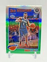 2019-2020 NBA Hoops Premium Stock Zion Williamson RC #296 Tribute GREEN PRIZM