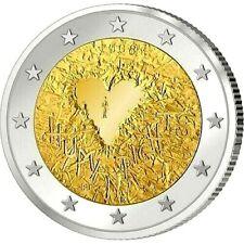 2 Euro Finlande 2008 Human Right Commemo Coeur Valentine Unc Qualite Premium