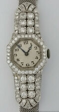 Fabulous 1920s Art Deco 3ct Diamond Mesh Ladies Wrist Watch Charles Seale