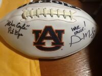 Gus Malzahn and Pat Dye Signed Auburn Tigers Football Coaching Legends!