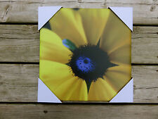 Outdoor Canvas Wall Plaque Garden Decor 12in.x12 in yard decor Yellow Flower