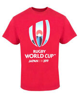 Rugby World Cup 2019 Mens Large Logo T-Shirt | Red