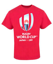 Rugby World Cup 2019 Mens Large Logo T-Shirt   Red