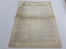 THE NINTH STREET WEEKLY BULLETIN - NINTH  ST. BAPTIST CHURCH  - OCT. 16TH 1897