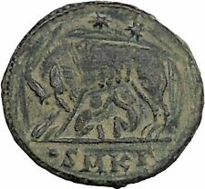 CONSTANTINE I Romulus Remus SheWolf Rome Commemorative Ancient Roman Coin i46808