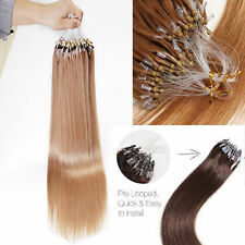 """16""""-24"""" 1G Double Drawn Micro Loop Russian Straight Remy Human Hair Extensions"""