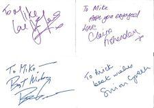 Autographs Brian Greene Simon Green Ian Mercer Claire Fishenden Z3441