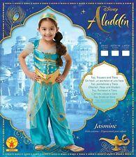 Costume Bambina Carnevale Principessa Jasmine Aladdin Disney - varie taglie