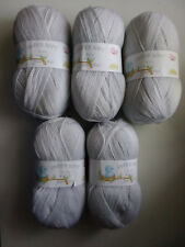 James C Brett 4ply Baby Wool 100 Acrylic Knitting Yarn BY11 Silver
