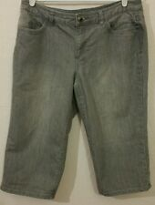 Christopher banks Women's Embellished Cropped Jeans size 12P(#3601)
