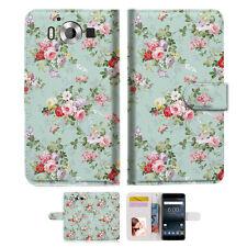 """Royal Garden Phone Wallet Case Cover For Nokia 6 5.5"""" -- A023"""