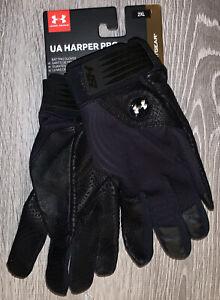 Under Armour HeatGear Harper Pro Adult Batting Gloves Black 1341981-001 Size XXL