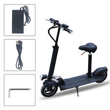 AGDA®Safe Premium and Reliable Kick Electric Scooter With Suitable Seat Black