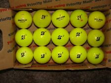 "(15) Bridgestone Yellow Colored Golf Balls ""Slightly Used"" Flat Shipping"