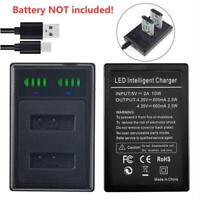 NP-BX1 USB DUAL Battery Charger for Sony DSC-HX300 RX1 RX100 II III M2 M3 M4