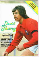 PROOF DAVID HARVEY SIGNED TESTIMONIAL PROGRAMME LEEDS UNITED COA AUTOGRAPH UTD 8