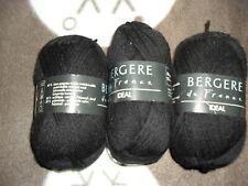 3 Pelotes de laine Bergère de France idéal gris anthracite