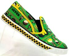"""Harajuku Lovers """"Ready Steady Love"""" Green/Yellow Canvas Loafer Sneaker Women 9.5"""