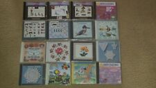 16 Embroidery memory cards & cd's Janome Amazing Designer Series